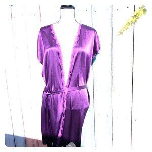 Victoria's Secret Dark Purple Robe Size Large